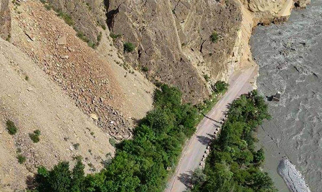 8 Bridges destroyed Karimabad Pakistan