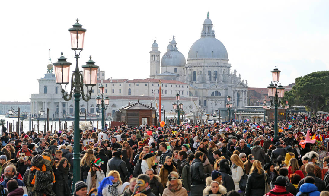 Venice Carnival Crowd